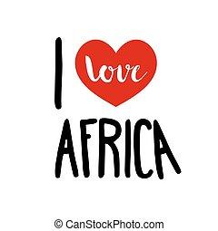 i, 愛, アフリカ