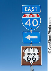 I-40 signs in Texas