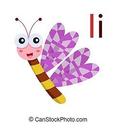 I alphabet vector animal