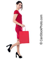 I am going to shop now, are you coming? - Trendy woman...