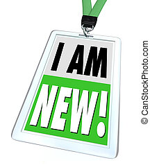 I Am New Badge Lanyard Introduction Meet Networking - The ...