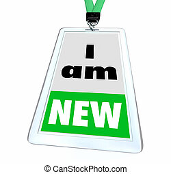 I Am New Rookie Latest Member Employee Joined Now Badge 3d ...