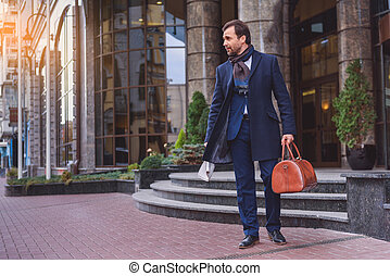I am ready for business trip - Confident businessman is...