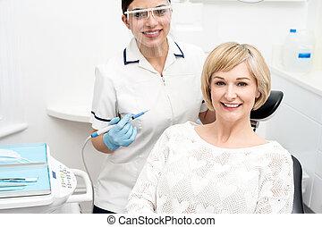 I am ready for dental  examine.