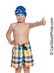 I am ready for swimming!