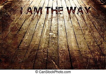 """I AM THE WAY"" Religious Background - High Res Abstract..."
