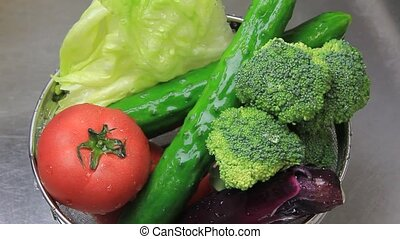vegetables - I am washing various vegetables.
