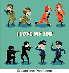 i, amor, meu, trabalho