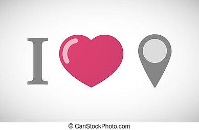 """i, carte, marque, hiéroglyphe, love"""