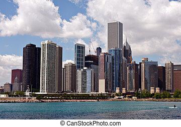 i centrum, chicago, horisont