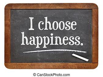 I choose happiness - positive affirmation words on a vintage...