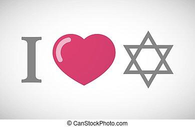 """""""i, david, estrella, jeroglífico, love"""""""