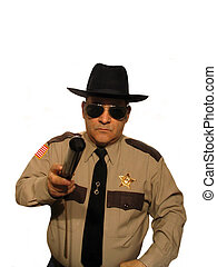 I dont eat donuts - ,Part of the Sheriff series,over white