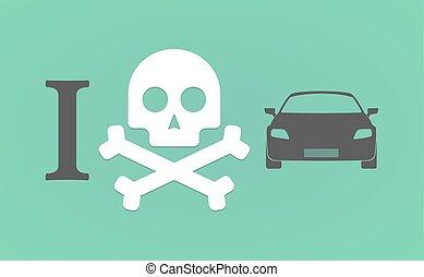 """I don't like"" hieroglyph with a car"