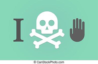 """""""I don't like"""" hieroglyph with a hand"""