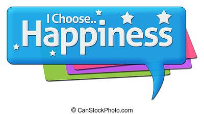 i, escolher, felicidade, coloridos, comentário