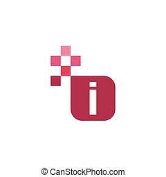 I Font Vector Template Design