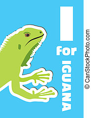 I for Iguana, an animal alphabet fo