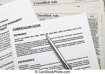 I found a job - Curriculum vitae with employment contract...