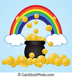 St Patricks Day - I found the pot of gold coins!.St Patricks...