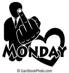 I hate Monday for the creative use in graphic design
