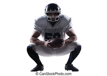 I have no equal in this sport. American football player holding