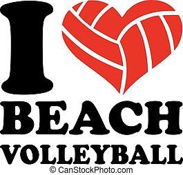 I Heart Beach Volleyball