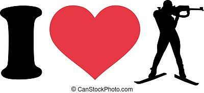 I heart Biathlon