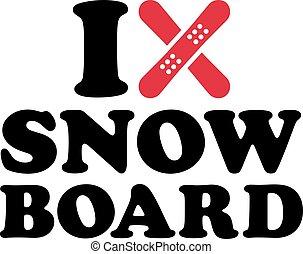 I heart snowboards