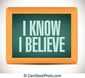 I know I believe board sign illustration