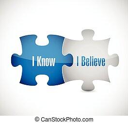 I know I believe puzzle pieces illustration