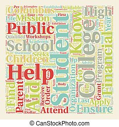 I KNOW I CAN helps Students in Columbus Schools Attain Their College Dreams text background wordcloud concept