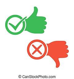 I like and dislike signs. Vector illustration