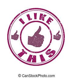 i like this grunge stamp on whit vector illustration