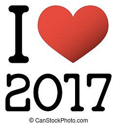 I love 2017 new year greetings