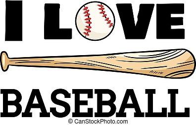 I love baseball sport design. Baseball ball and bat typography print