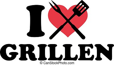 I love bbq with grill cutlery - german
