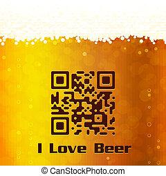 I Love Beer background