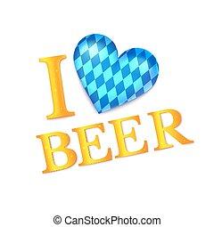 I love beer vector illustration