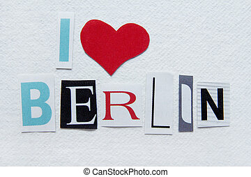 i love berlin sign