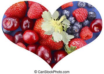 I love berries concept