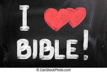 I Love Bible Concept