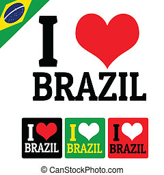 I love Brazil sign and labels