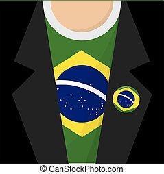 I Love Brazil T-Shirt Vector Illustration