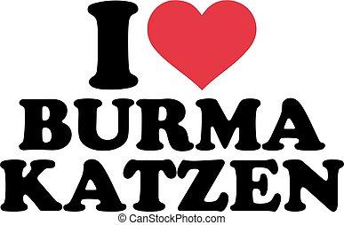 I love burmese cats german