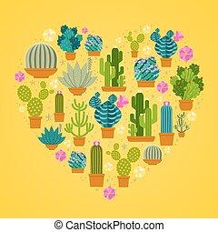 I love cactuses logo