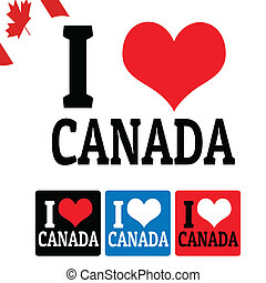 I love Canada sign and labels