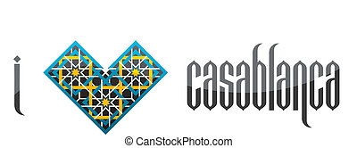 I love Casablanca. Vector iluustration. - I love Casablanca...