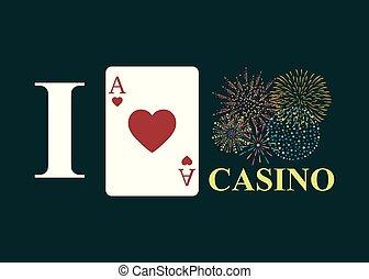 I love casino on black background.