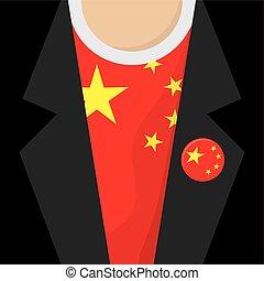 I Love China T-Shirt Vector Illustration